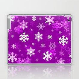 Light Lilac Snowflakes Laptop & iPad Skin