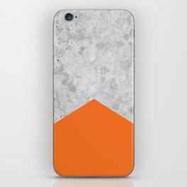 Concrete Arrow - Orange #118 iPhone Skin