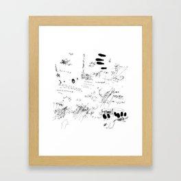 Night drawings Framed Art Print