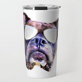 Boxer dog with Glasses Travel Mug