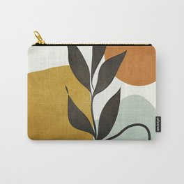 Soft Abstract Small Leaf Carry-All Pouch