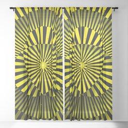 Manipura chakra (yellow) Sheer Curtain