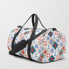 Nautical pattern . 1 Duffle Bag