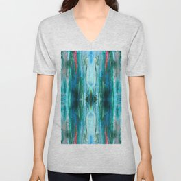 Abstract Ice Pattern Unisex V-Neck