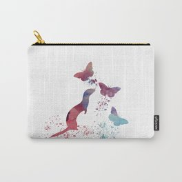 Ferret and butterflies Carry-All Pouch