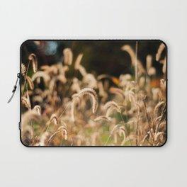 Golden Autumn Grass Laptop Sleeve