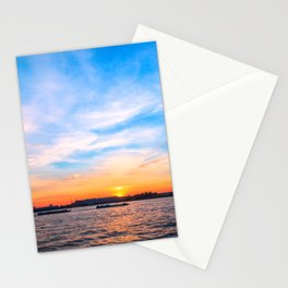 Sunset in a white night Stationery Cards