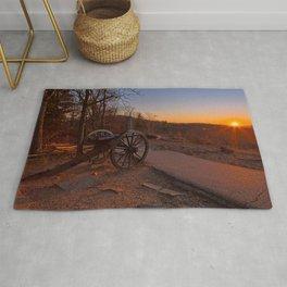 Gettysburg Sunset Cannon Rug