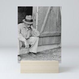 Farmer in Despair Over the Depression in 1932 Mini Art Print