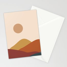 Brown moon Stationery Cards