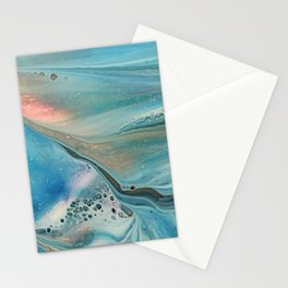 Pearl marble abstraction Stationery Cards
