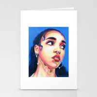 fka twigs Stationery Cards featuring Fka Twigs by Passion for Pencils