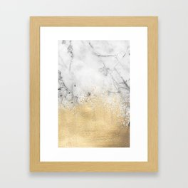 Gold Dust on Marble Framed Art Print