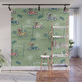 Ready to race mouse pattern Wall Mural