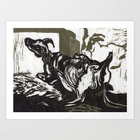 Sheep in Labor Art Print