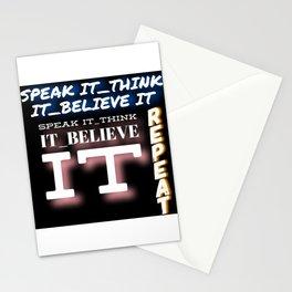 speak it Stationery Cards