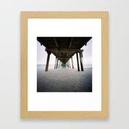 Under Grange Jetty Framed Art Print