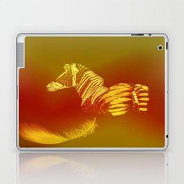 The zebra who loses these feathers Laptop & iPad Skin