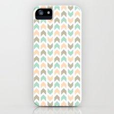Pattern: Olive + Peach Arrows iPhone (5, 5s) Slim Case