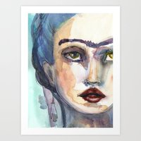jane davenport Art Prints featuring Frida Forever by Jane Davenport by Jane Davenport