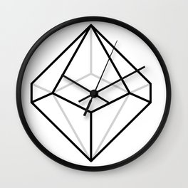 D10, White Wall Clock