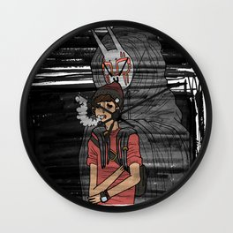 held back by anxiety Wall Clock