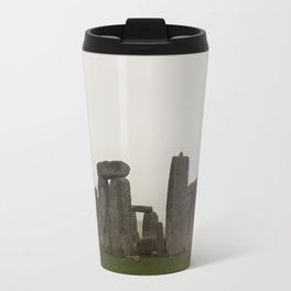 A Misty Morning at Stonehenge Travel Mug