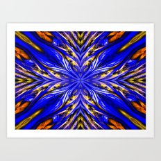 Blue Starburst Art Print