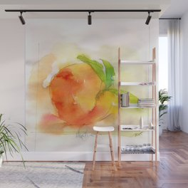 Watercolor Peach Wall Mural