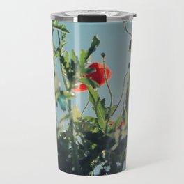 poppy flower no14 Travel Mug