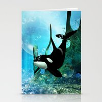 orca Stationery Cards featuring Orca by nicky2342