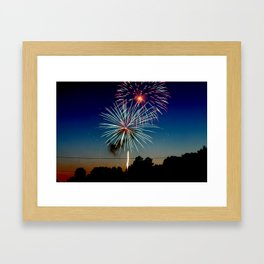 July 4th Fireworks Framed Art Print