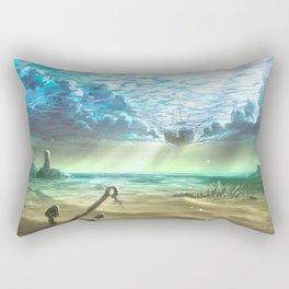 below sky level Rectangular Pillow