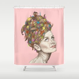Hair Garden // twiggy with the cool hair Shower Curtain