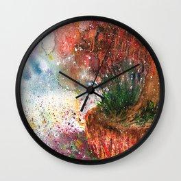 Mystique Landscape Watercolor Wall Clock