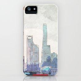 Shanghai city skyline iPhone Case