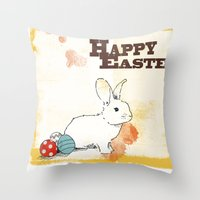 easter Throw Pillows featuring Easter by Michelle Krasny