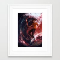 percy jackson Framed Art Prints featuring Dark Percy by k1216