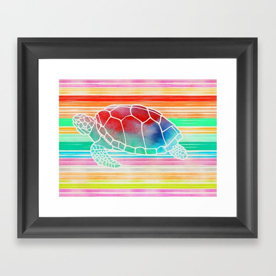 Turtle Collage by Garima and Jacqueline Framed Art Print