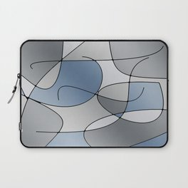 ABSTRACT CURVES #1 (Grays) Laptop Sleeve
