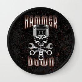 Hammer Down Wall Clock