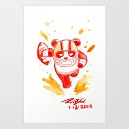 SF Football Panda Art Print