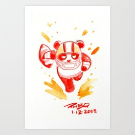 SF Football Panda Art Print
