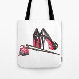 High Heels and nail polish art Tote Bag