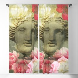 Venera and flowers Blackout Curtain