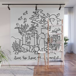 live to love the world Wall Mural