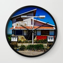 Abandoned Pit Stop Wall Clock