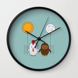 Early Bird & Night Owl Wall Clock