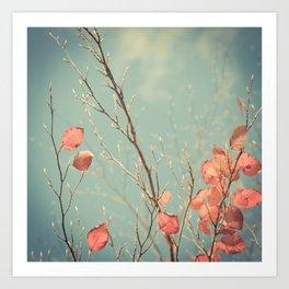 The Winter Days of Autumn Art Print