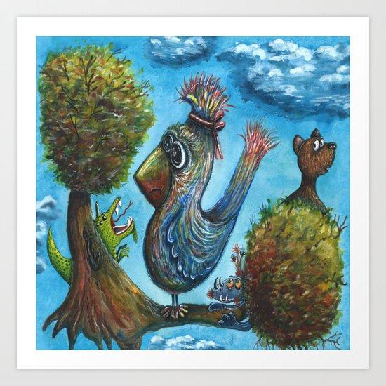 Strange Bird in a Strange Land Art Print